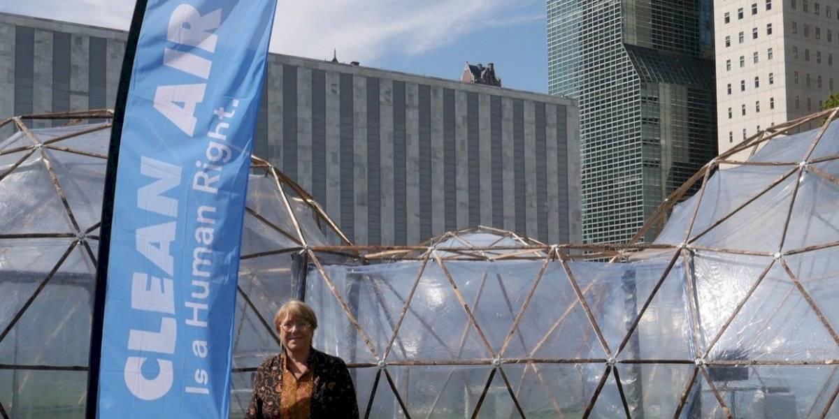Aire Limpio es un derecho humano: Michelle Bachelet abogó por un combate mundial hacia la polución ambiental