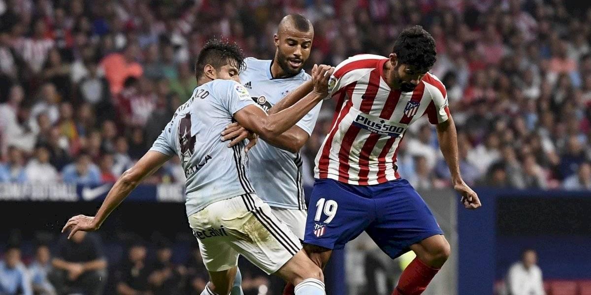 El Celta, de Araujo, seca al Atlético con Héctor Herrera
