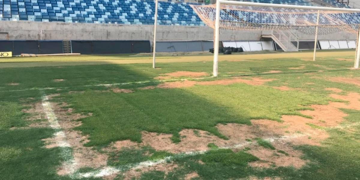 FOTOS: Estadio mundialista en 2014 está en condiciones deplorables