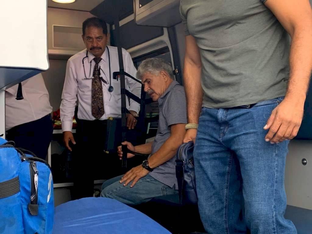 Momento en que era asistido por los médicos