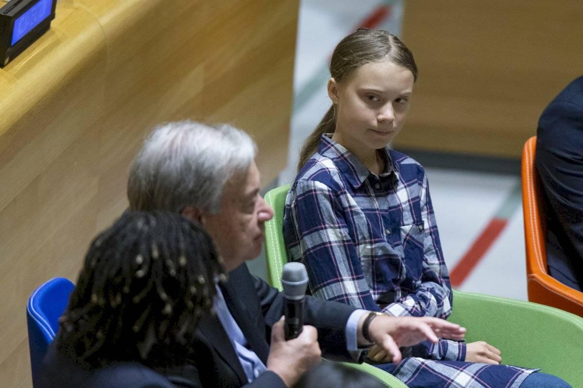 La activista sueca Greta Thunberg asistió al evento, pero cedió su tiempo porque emitirá un discurso el lunes