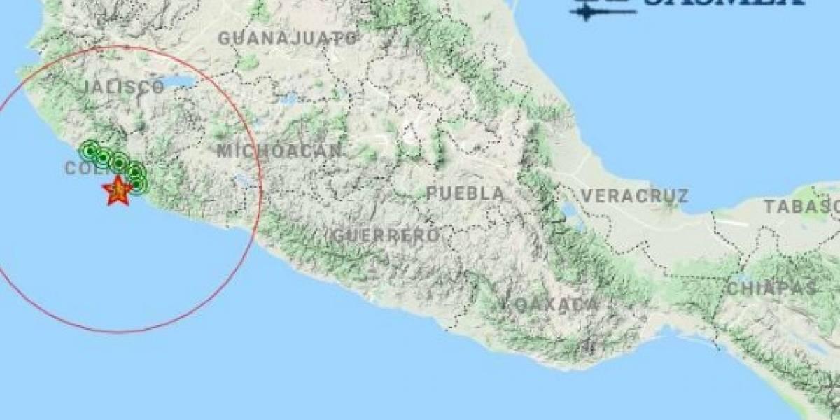 Se registra sismo frente a las costas de Colima