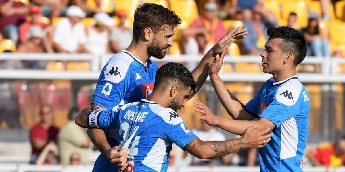 Napoli, de Lozano, gano 4-1 al Lecce en la Serie A