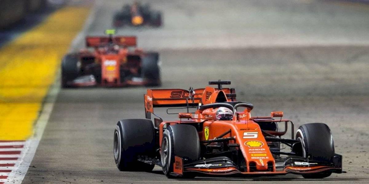 Fórmula 1: Sebastian Vettel logra con polémica estrategia el un-dos para Ferrari en el GP de Singapur
