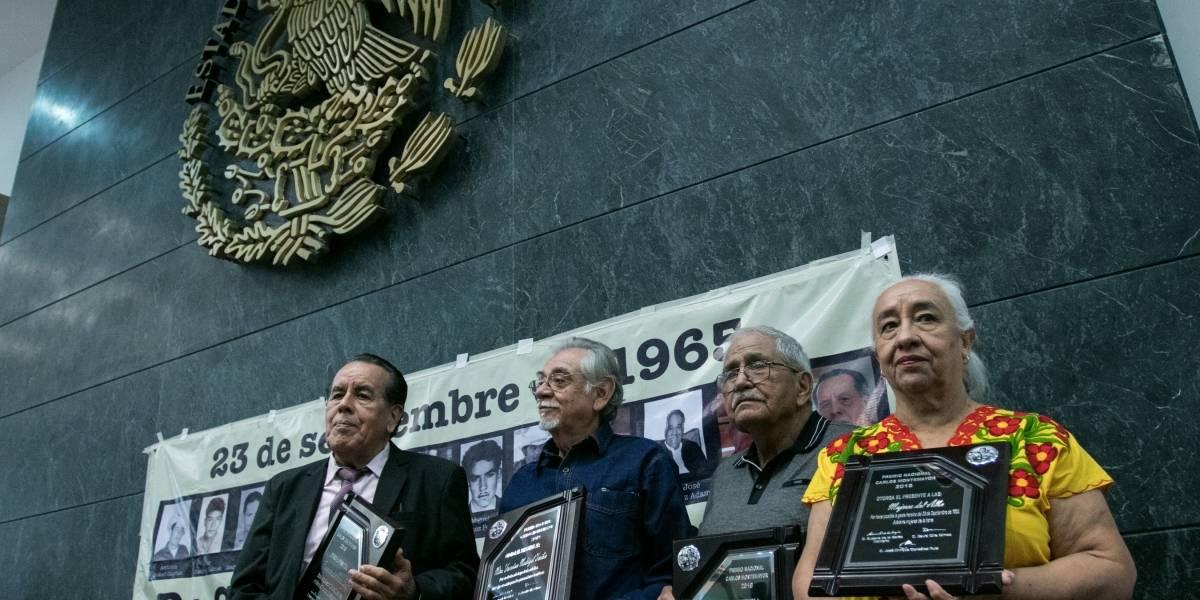 Reconocen en Los Pinos a sobrevivientes guerrilleros