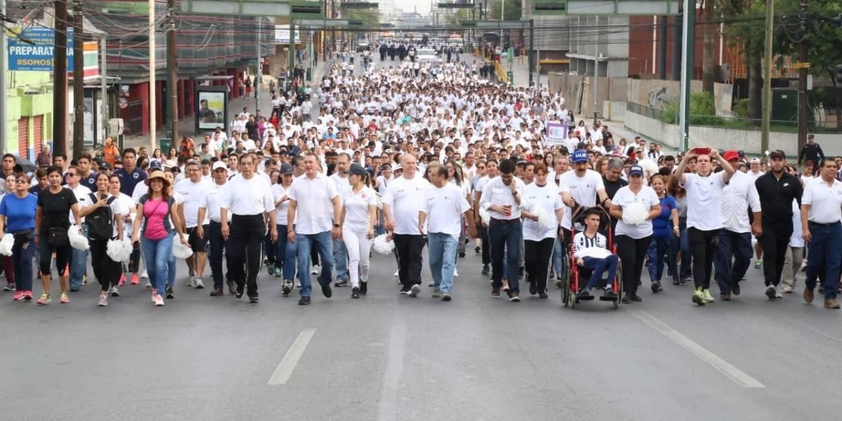Realizan segunda Marcha por la Paz y No Violencia en Nuevo León