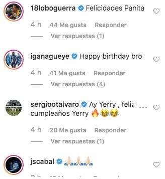 1. Mensajes para Yerry Mina por su cumpleaños