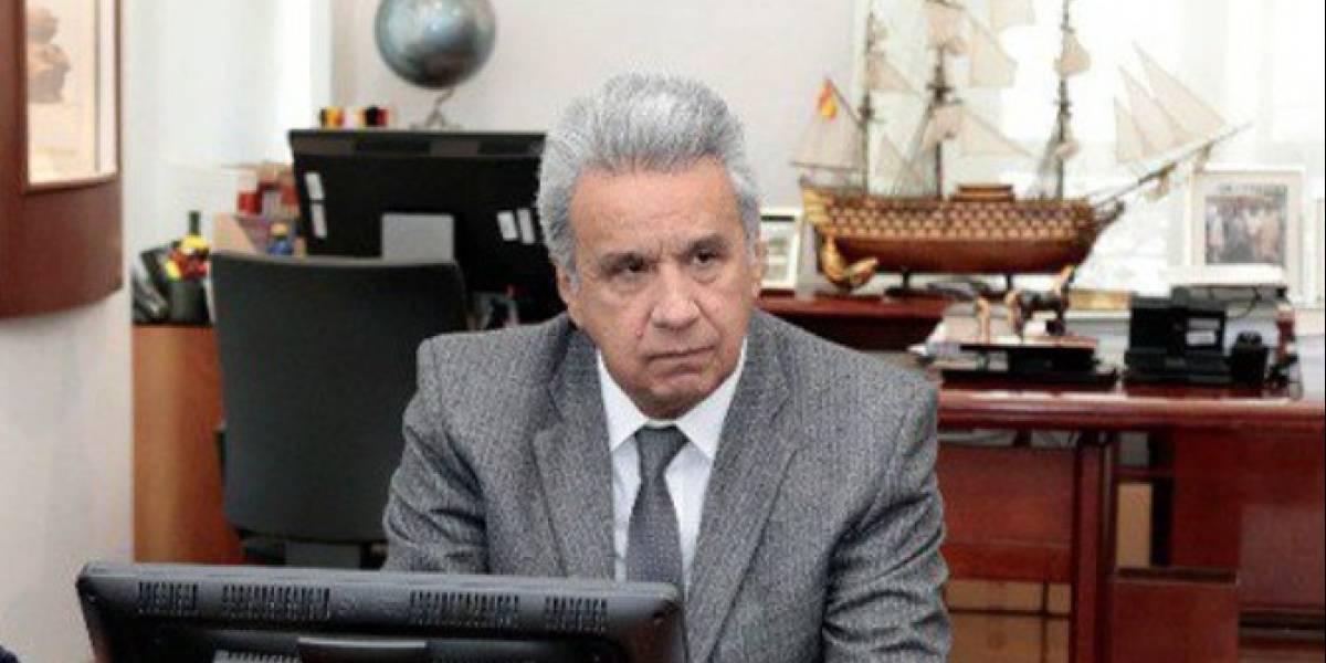 Colocan vallas de seguridad en el Palacio de Carondelet previo al anuncio de Lenín Moreno sobre medidas económicas