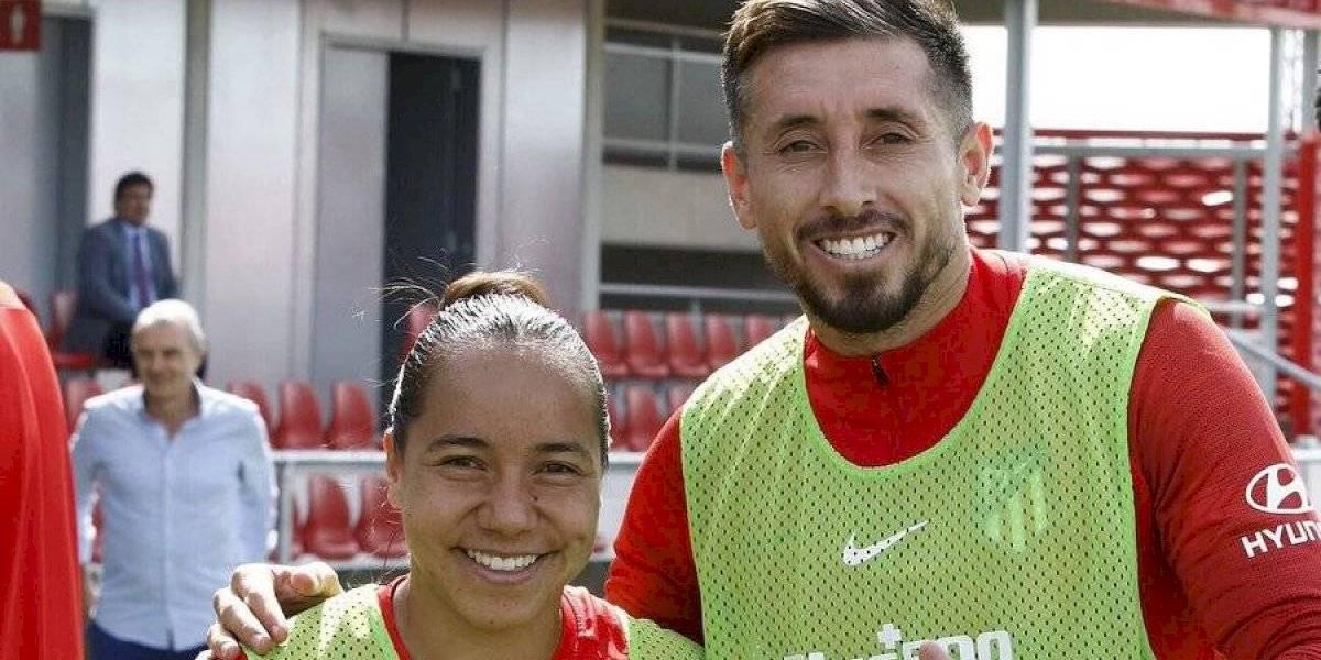 Charlyn Corral entrena junto a Héctor Herrera en el Atlético de Madrid