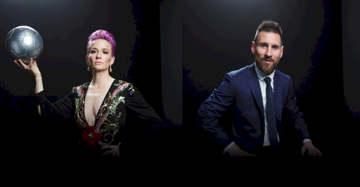 Megan Rapinoe y Lionel Messi mejores jugadores FIFA 2019