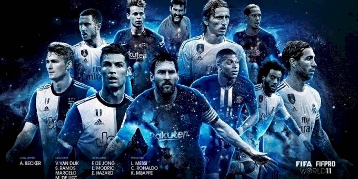"""Con Messi, Cristiano, van Dijk y dominio del Real Madrid: El """"equipo del año"""" de la FIFA 2019"""