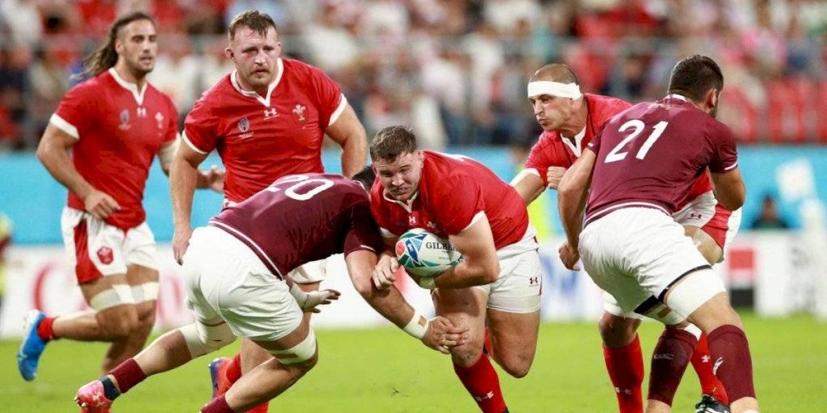Gales mostró su favoritismo con una contundente victoria ante Georgia en el Mundial de Rugby