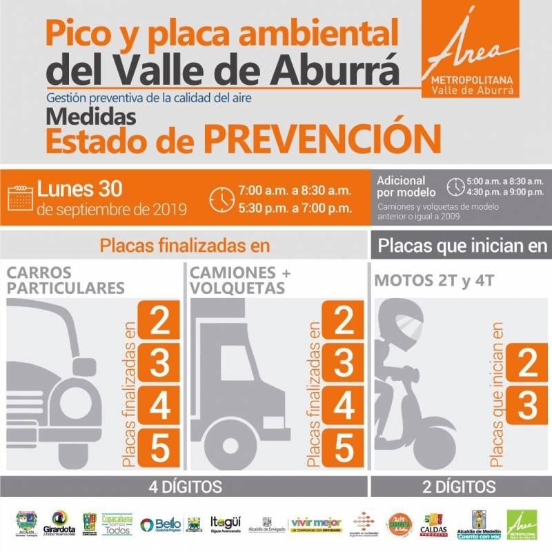 Pico y placa ambiental octubre 2019