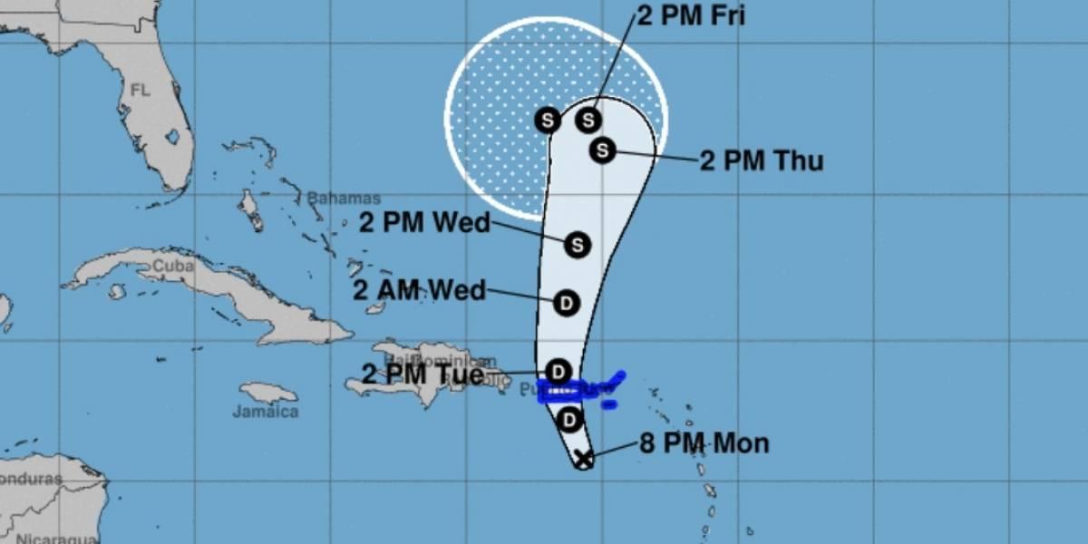 Depresión tropical Karen sigue su rumbo a la isla