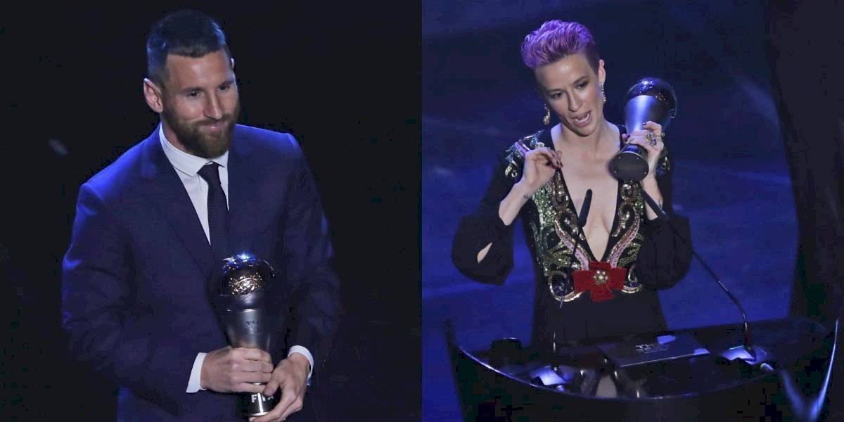 Lionel Messi y Megan Rapinoe son los ganadores de The Best 2019