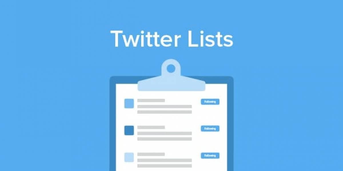 Twitter quiere que utilices sus listas y ha lanzado una atractiva modificación en iOS