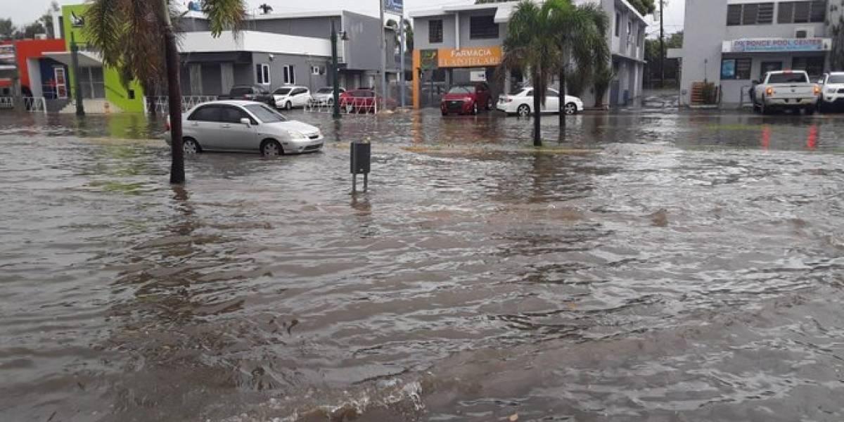 Se reportan carreteras inundadas en distintos puntos de la Isla