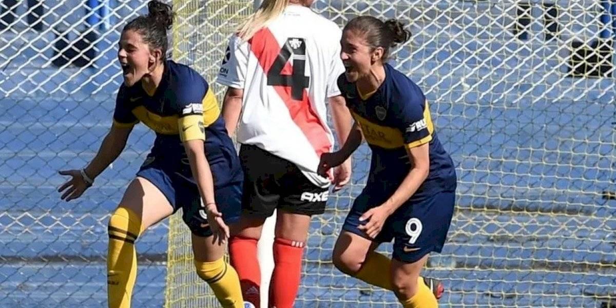 Boca barrió a River en el primer Superclásico femenino de Argentina