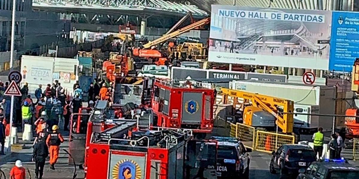 Ezeiza: Derrumbe en aeropuerto de Buenos Aires deja al menos un muerto y 7 heridos