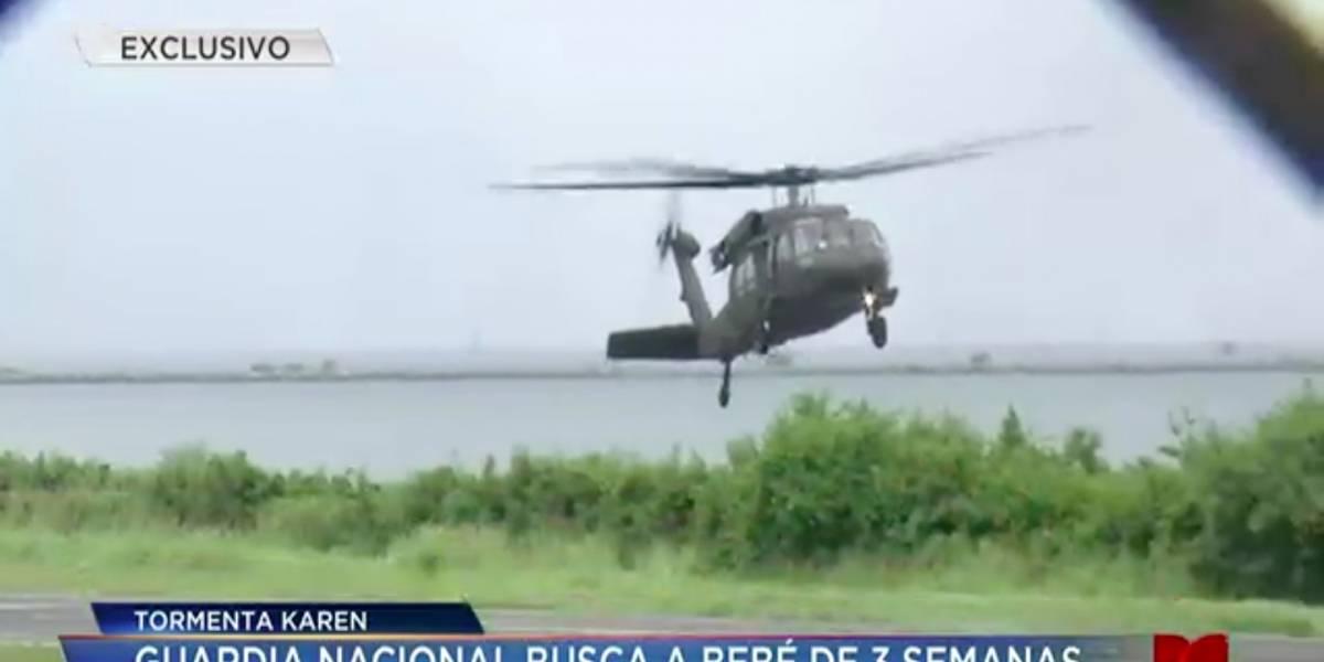 Guardia Nacional llega a Vieques para transportar a bebé enfermo