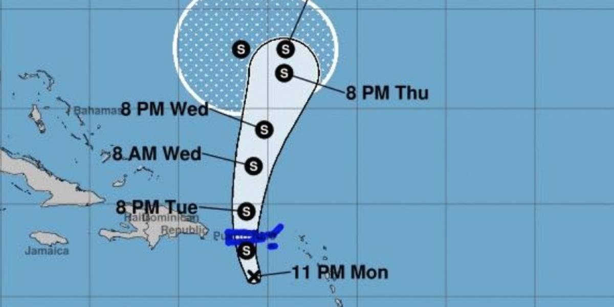 Depresión tropical Karen sigue su ruta a Puerto Rico con vientos de 35 millas por hora