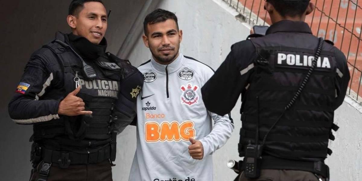 Lluvia y granizo impidió que Corinthians culmine su entrenamiento en Quito