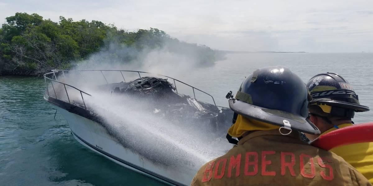 Se incendia bote en La Parguera