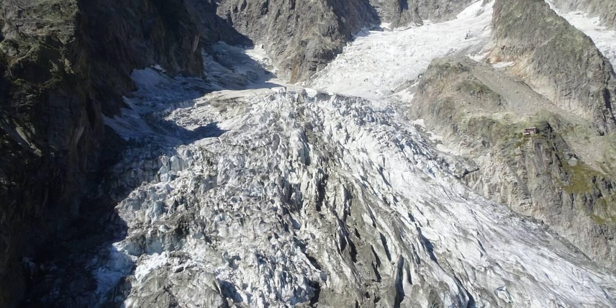 Una nueva víctima del cambio climático: glaciar Planpincieux del Mont Blanc en Italia a punto de colapsar producto del deshielo