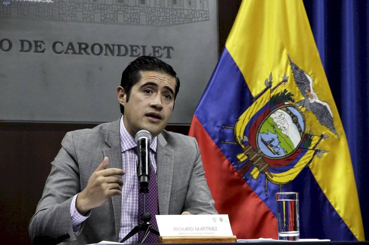 El ministro de Economía, Richard Martínez