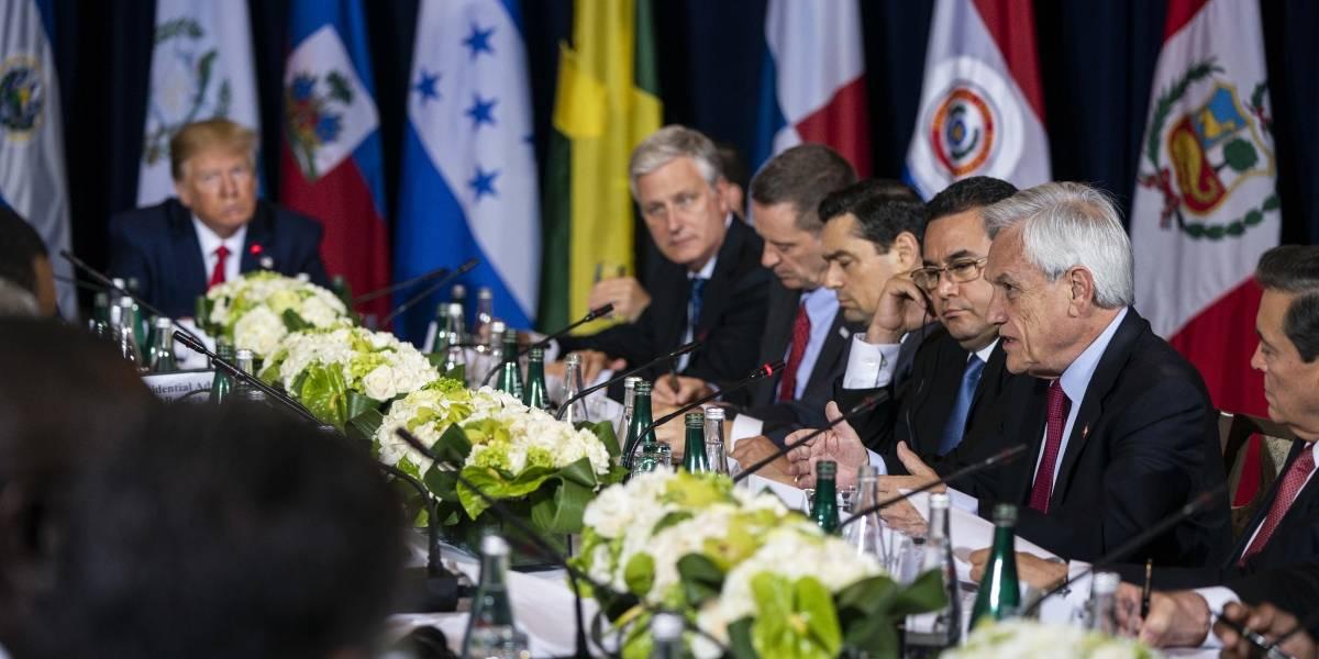 """Piñera se desató en reunión con Trump y otros líderes: llamó a """"terminar con Maduro"""" y """"reconstruir Venezuela desde cero"""""""