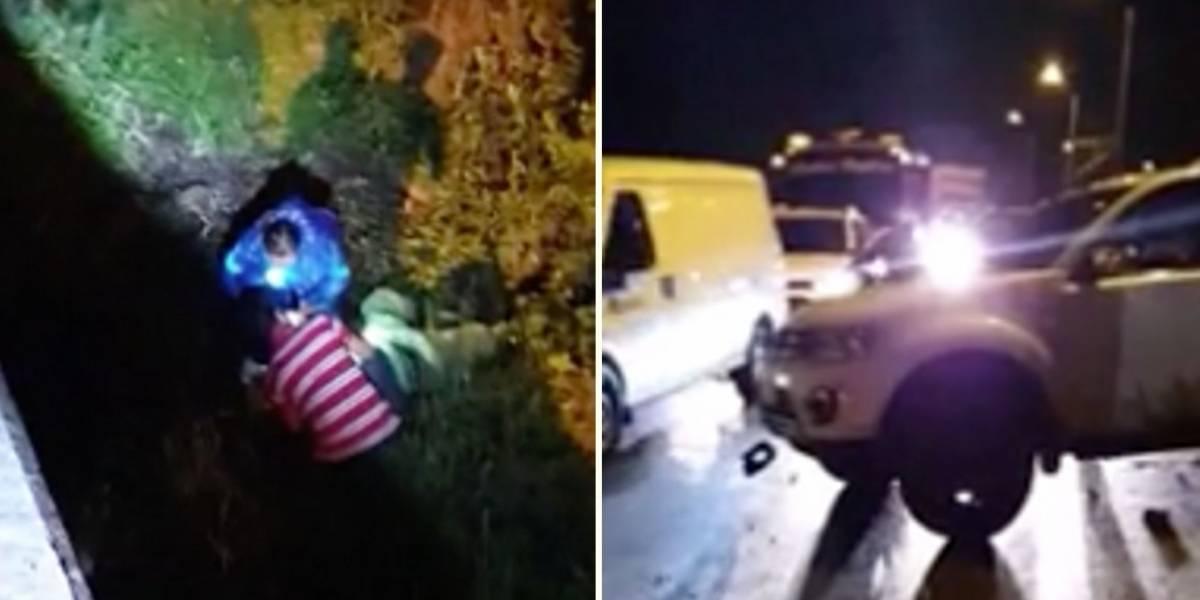 En grave accidente de tránsito motociclista cayó a un abismo