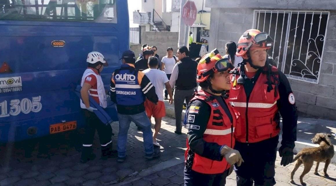 Accidente en el Inca Twitter Bomberos
