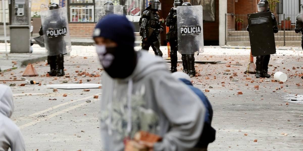 El triste balance de las protestas del martes en Bogotá