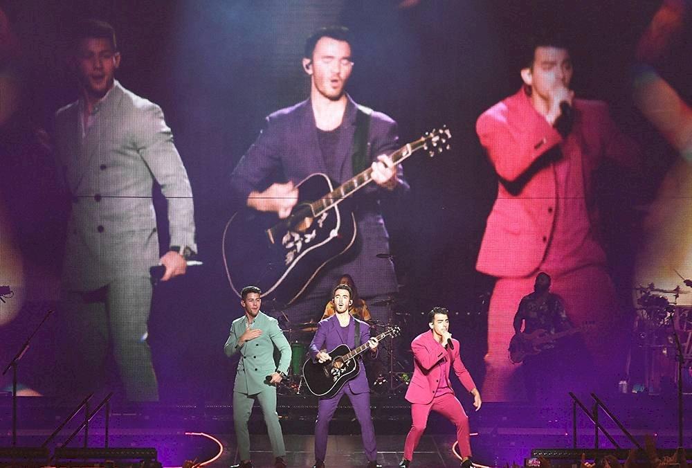 Los Jonas Brothers llevaron el Happiness Begins Tour al Madison Square Garden de Nueva York Getty Images
