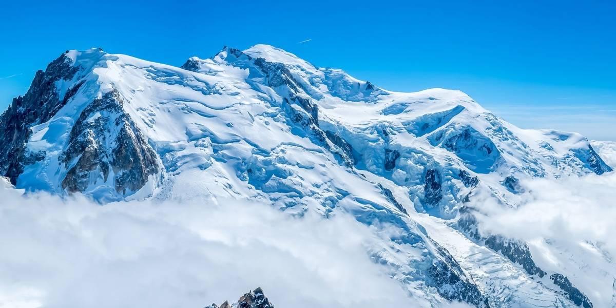 Gigantesco glaciar Mont Blanc en Italia se encuentra a punto de colapsar