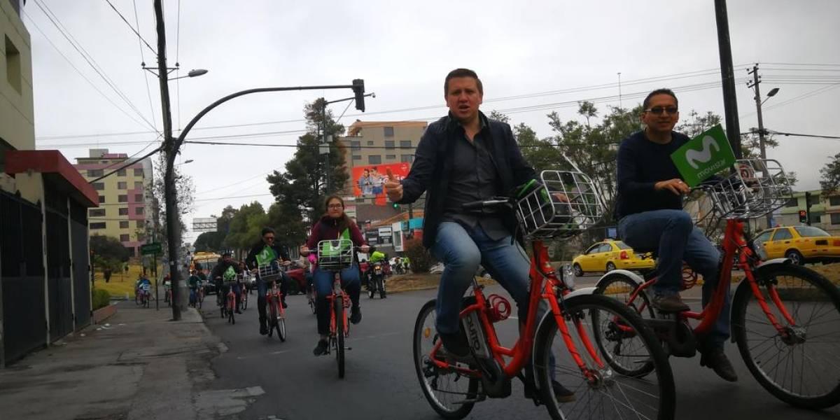 Telefónica Movistar realizó una cicleada por el Día Mundial Sin Auto