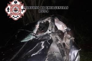 mujer herida en accidente en Km. 47 ruta Interamericana