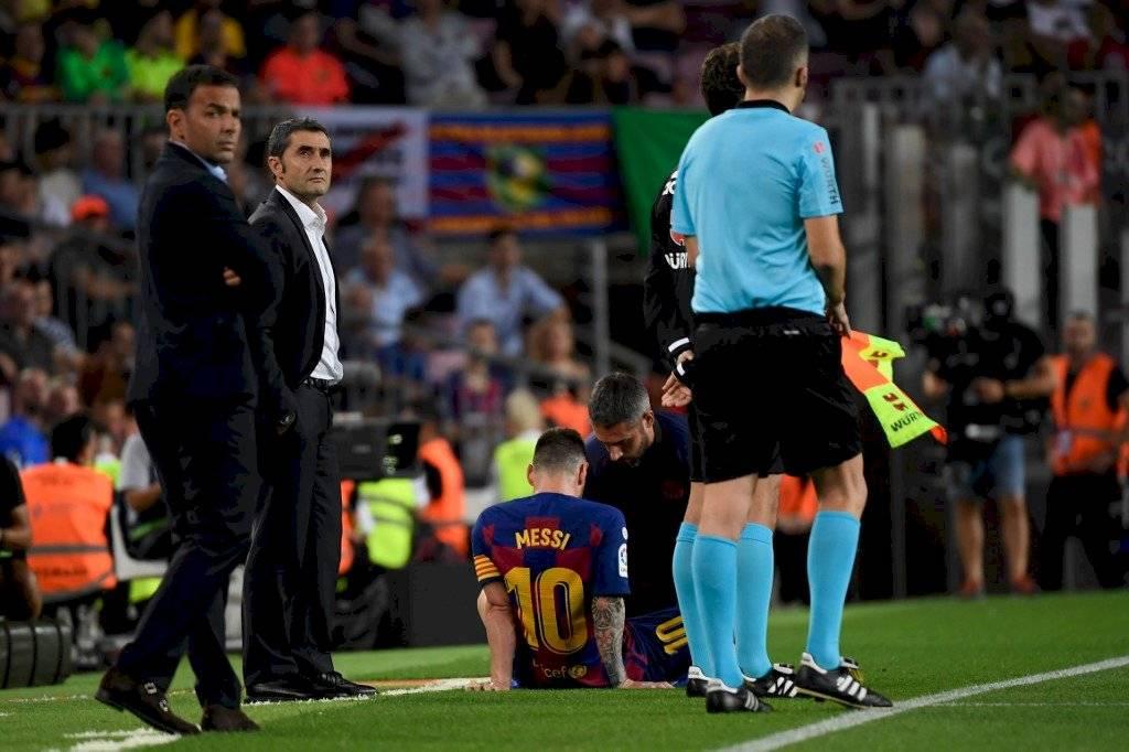 Parte médico lesión Messi