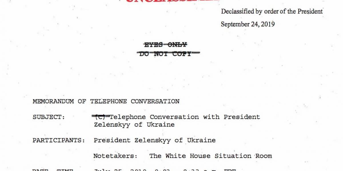 Lee aquí la transcripción en español de la conversación entre Trump y el presidente de Ucrania