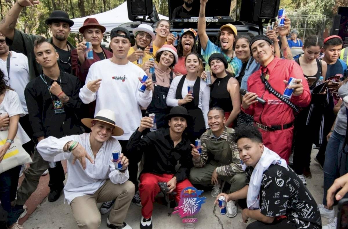 Después de la competencia, los participantes posaron para la fotografía Cortesía Red Bull
