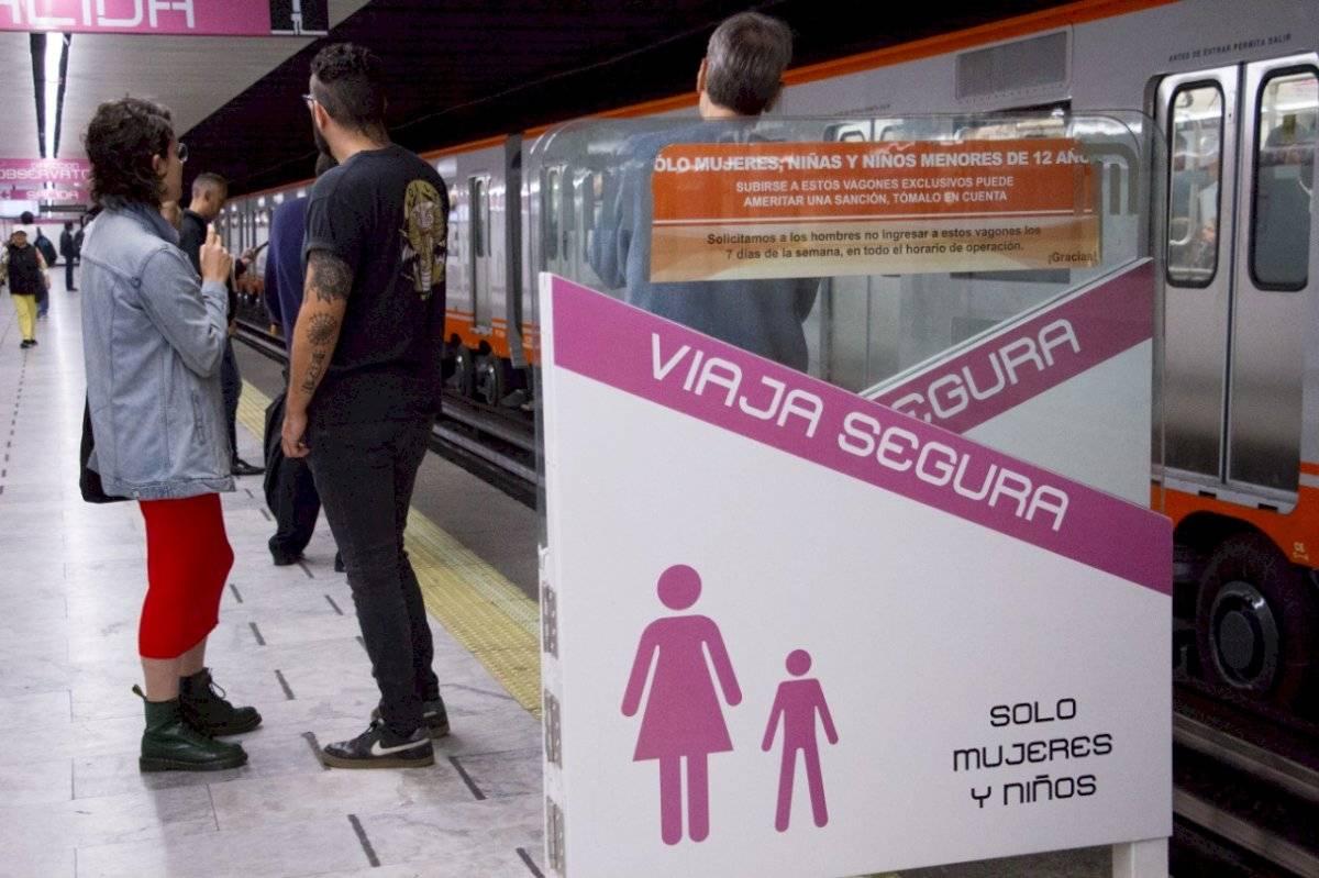 Se reforzará la señalización en andenes de las áreas exclusivas para mujeres cuartoscuro