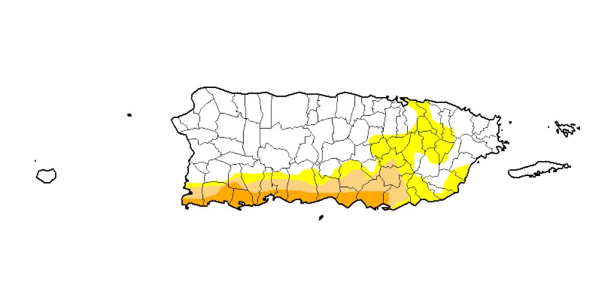 Se quedan igual los niveles de sequía