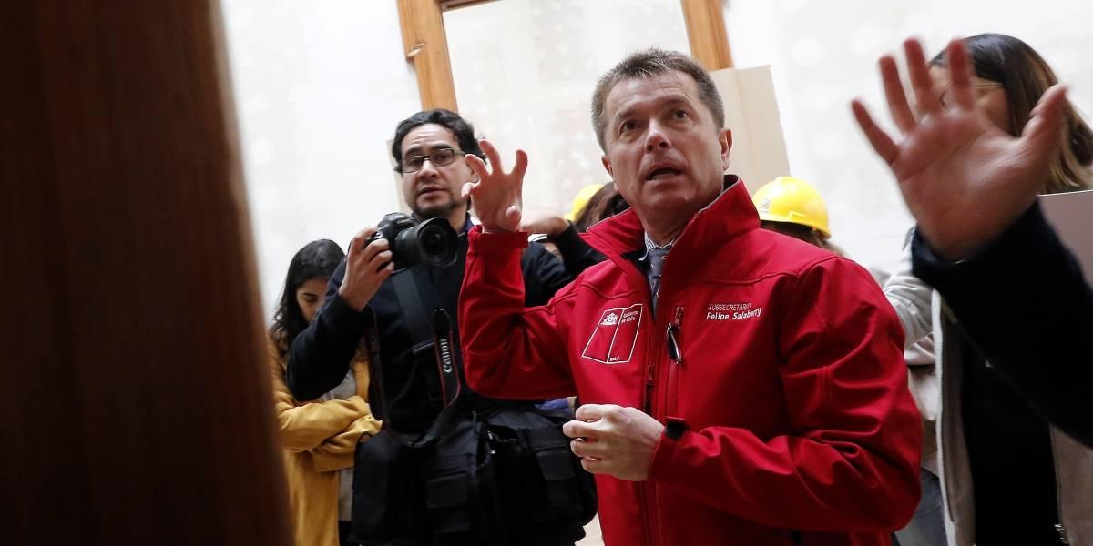 """Subsecretario Salaberry desmiente incidente en Ñuñoa: """"Es absolutamente falso, de falsedad absoluta"""""""