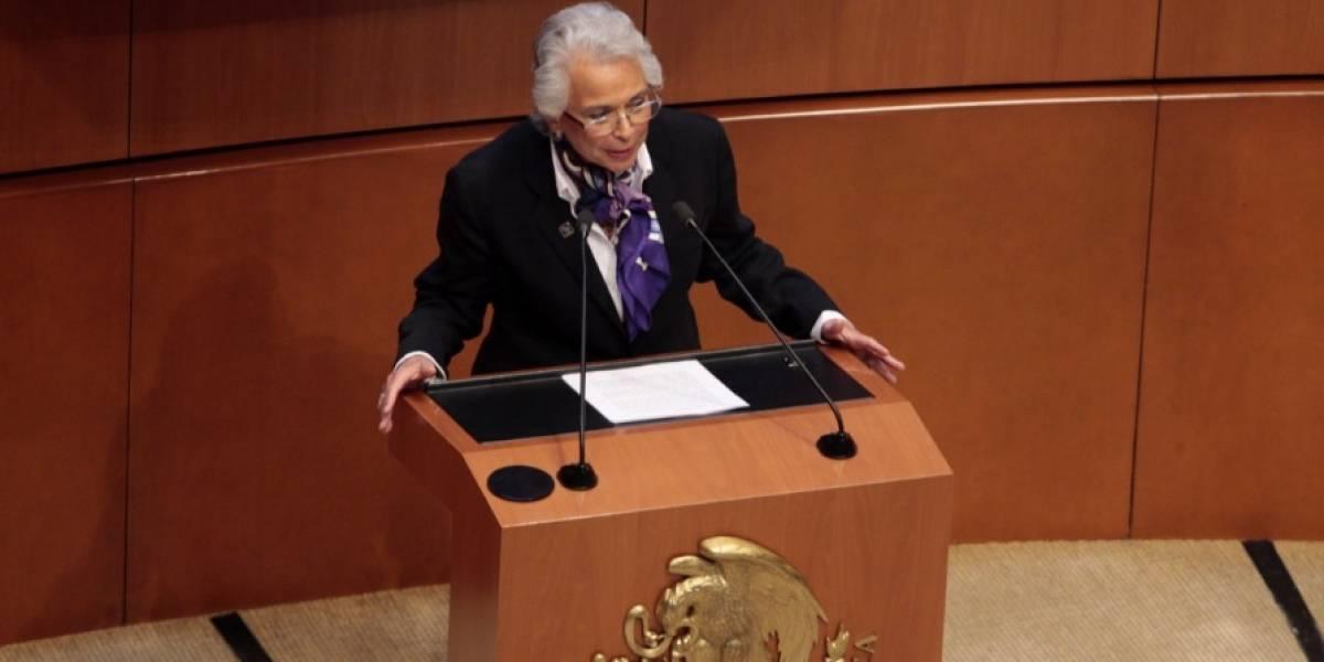 Defiende Sánchez Cordero política migratoria de AMLO frente al Senado