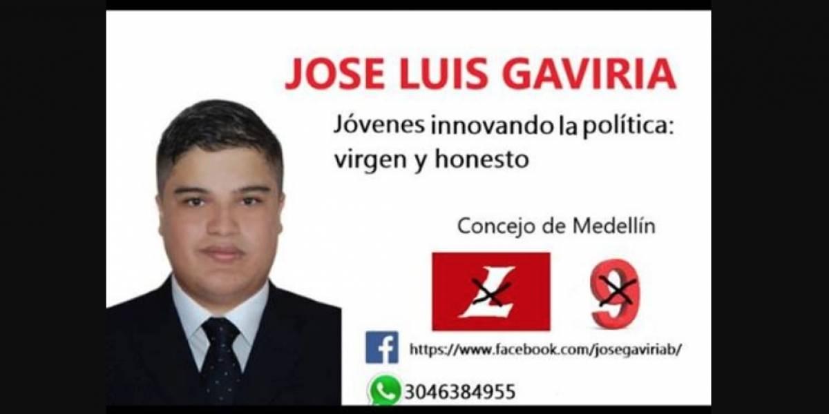 Joven candidato al Concejo de Medellín dice ser la mejor opción por ser virgen