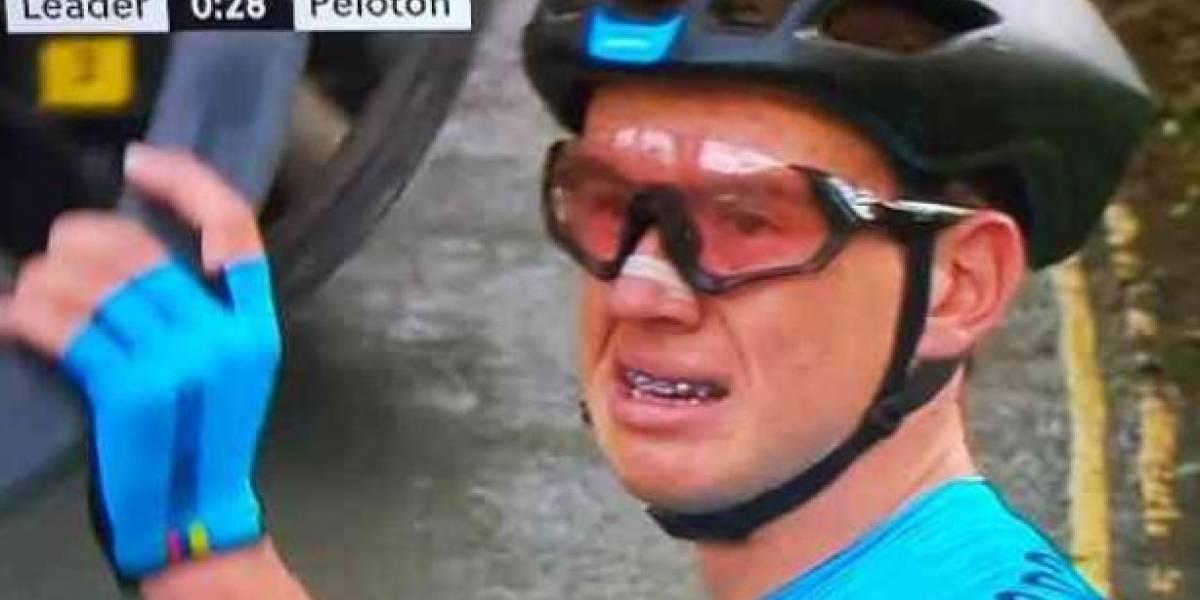 VIDEO. Ciclista colombiano vive momentos dramáticos en el Mundial de Yorkshire