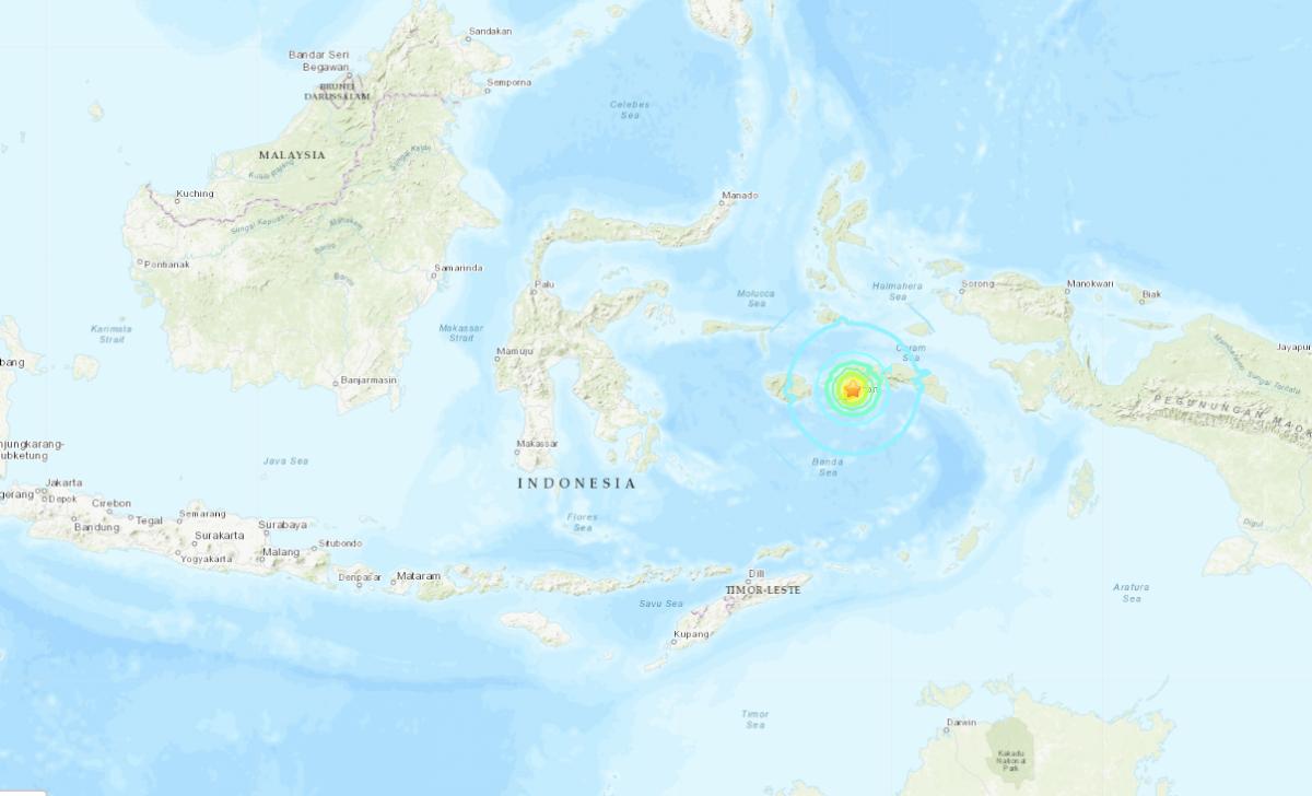 Ubicación del sismo magnitud 6.5