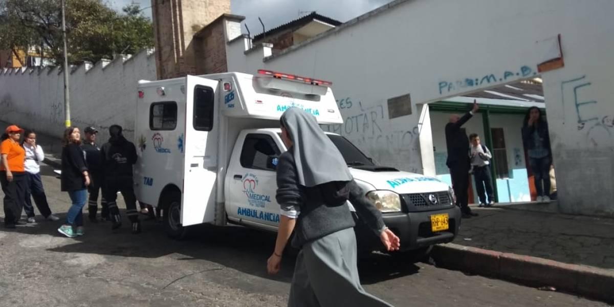 Diez niños intoxicados por gases lacrimógenos en el Colegio Mayor de Cundinamarca