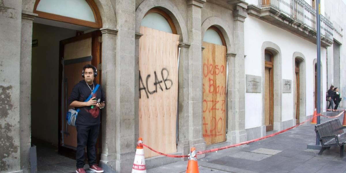 Vandalismo en marcha por caso Ayotzinapa costará 100 mdp