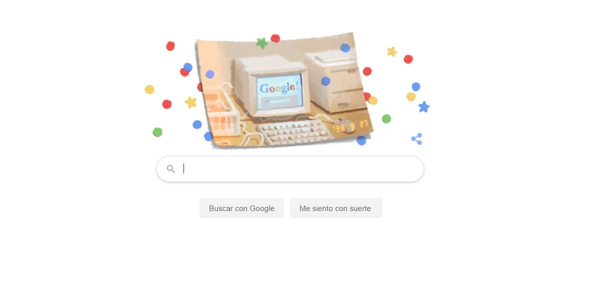 Google celebra 21 años de su creación con un Doodle nostálgico y grandes descuentos